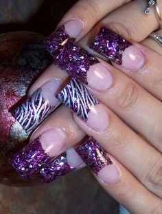 Nail art design Beautiful Nail Designs, Beautiful Nail Art, Toe Designs, Nail Art Designs, Love Nails, Fun Nails, Zebra Nails, Colorful Nail Art, Amazing Nails