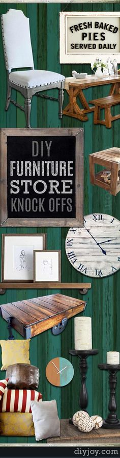 DIY projects for the Home - Furniture Store KnockOffs - Do It Yourself Furniture Projects Inspired by Pottery Barn, Restoration Hardware, West Elm. Tutorials and Step by Step Instructions  |   Pottery Barn Knock Off Candle Holders and Candles  |   http://diyjoy.com/diy-furniture-store-knockoffs