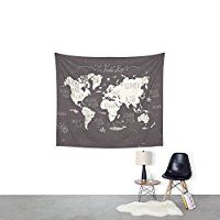 """Society6 The World Map Wall Tapestry Small: 51"""" x 60"""""""