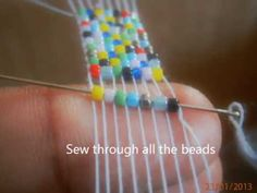 How to Work with a Bead Loom - YouTube