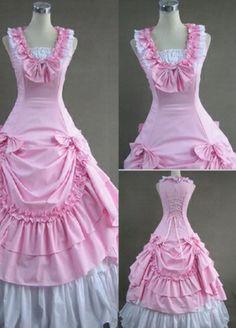 Sur vente Sweet Lolita victorien rose robe vêtements Lolita