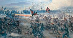 Mort Künstler has painted Gettysburg dozens of times, and you'll find a selection of scenes from some of his most important Gettysburg paintings on the receiver of this magnificent Tribute. Description from americaremembers.com. I searched for this on bing.com/images