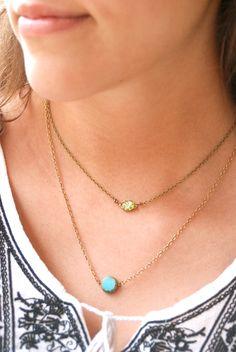 Green fire opal choker necklace.Tiedupmemories