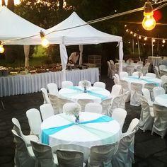 Christening reception yard