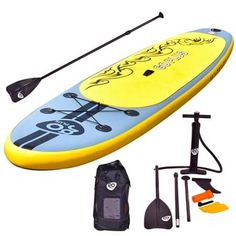 Goplus Inflatable Cruiser Stand Up Paddle Board iSUP Package w/ 3 Fins Adjustable Paddle Pump Kit Carry Backpack, Thick Best Inflatable Paddle Board, Inflatable Sup, Best Paddle Boards, Sup Stand Up Paddle, Thing 1, Standup Paddle Board, Sup Surf, Paddle Boarding, Water Sports