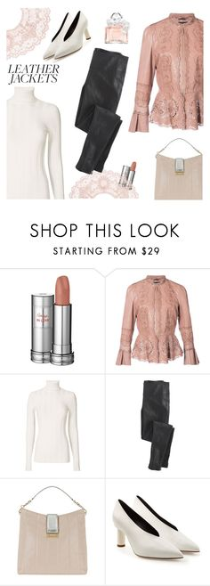 """""""Cool-Girl Style: Leather Jackets"""" by lence-59 ❤ liked on Polyvore featuring Lancôme, Roberto Cavalli, Derek Lam, Class Roberto Cavalli, TIBI, Guerlain and leatherjackets"""