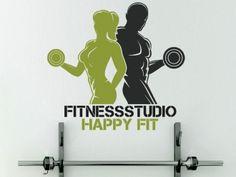 Wandtattoo Fitnessstudio mit Wunschname