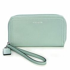 Coach Mint Legacy Leather Small Wristlet - $49.99