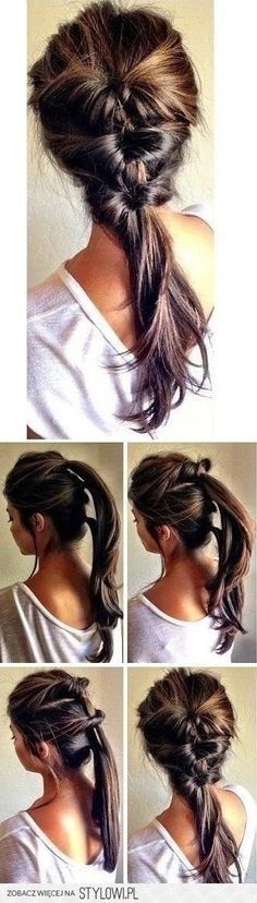 This looks pretty complex but after you look at the pictures 2/3 times you see how easy it is and now you know how to make an amazing hairstyle