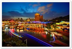 Clarke Quay is a historical riverside quay in Singapore, located within the Singapore River Planning Area. The quay is situated upstream from the mouth of the Singapore River and Boat Quay. Hobbies For Couples, Hobbies For Women, Stuff To Do, Things To Do, Night Life, Most Beautiful Pictures, In The Heights, Singapore, Places To Visit