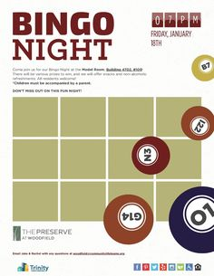 Game night, anyone? Join us for Bingo tomorrow night in the model room! We'll have snacks, refreshments, and prizes.