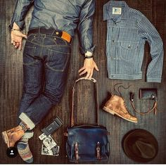 Mens Boots Fashion, Fashion Wear, Fashion Outfits, Hipster Man, Collar Styles, Young Fashion, Gentleman Style, Beard Styles, Fashion Lookbook