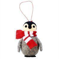 Felt Penguin with Scarf Ornament