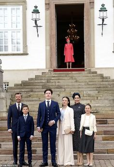 Denmark's Crown Prince Frederik and Princess Mary at son Prince Christian's confirmation | Daily Mail Online Princess Marie Of Denmark, Royal Princess, Crown Princess Mary, Prince And Princess, Denmark Royal Family, Danish Royal Family, Prince Christian Of Denmark, Danish Prince, Prince Frederick