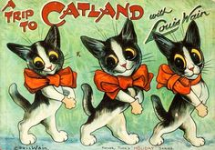 Crazy Cat Lady, Crazy Cats, Weird Cats, Louis Wain Cats, Vintage Cat, Cat Drawing, Cool Cats, Cat Art, Cats And Kittens