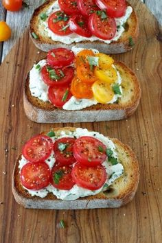 Double Tomato Bruschetta. Bruschetta is a traditional Italian item in which small slices of bread are topped with such things as tomato, basil, and mozzarella cheese, as is the case in this delightful recipe.