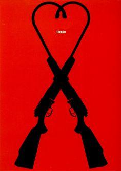 Japanese Poster: The End. Masuteru Aoba. 1982 - Gurafiku: Japanese Graphic Design