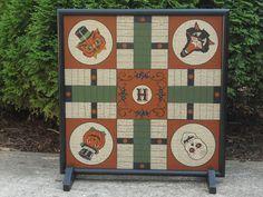 Halloween Game Board Parcheesi Game Board  by JohnnyUNamath,  JohnnyUNamath.Etsy.com