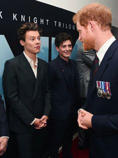 Harry Styles meets Prince Harry