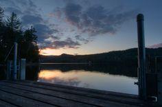 Sunset on Eagle Lake in Ticonderoga, NY USA