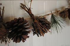 Pine Cone Garland {photo inspiration} | akstarrfamily.blogspot.com