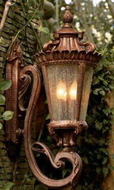 If you are having difficulty making a decision about a home decorating theme, tuscan style is a great home decorating idea. Many homeowners are attracted to the tuscan style because it combines sub… Style Toscan, French Style, Tuscan House, Tuscan Decorating, Street Lamp, Wall Lantern, Copper Lantern, Tuscan Style, Chandeliers