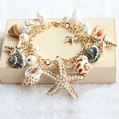 A bracelet with shells