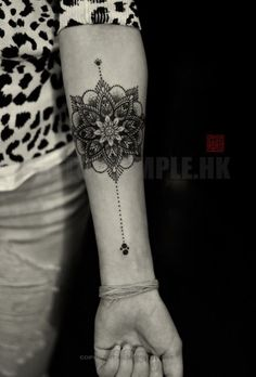 Fine Lines and Pretty Dotwork - 31 of the Prettiest Mandala Tattoos on Pinterest - Livingly