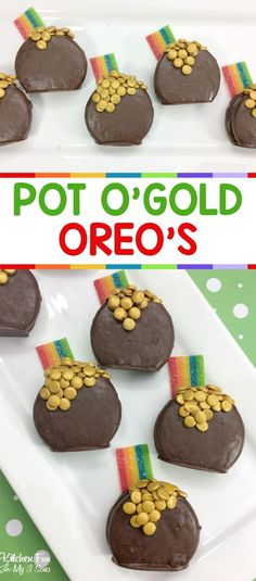 St. Patrick's Day Pot of Gold Oreos #stpatricksday #oreos
