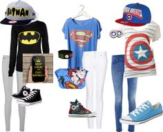 """superhero outfit"" by krazykira-1 ❤ liked on Polyvore"
