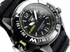 SEIKO Diver Watch SKZ317K1 Uhr Gadget Atlas Watch Manual Compass