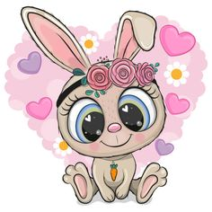 Cute Cartoon Animals, Cute Animals, Sublimation Mugs, Heart Background, Bunny Face, Stained Glass Projects, Cute Images, Forest Animals, Cute Characters