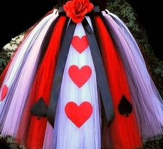 Girls or womens Queen of Heart floor length tutu costume. perfect for halloween. tops available as well.Made in any size. For womens sizes please check out my other listings. please allow between 4-8 days to make this tutu. Shipped via USPS PRIORITY MAIL