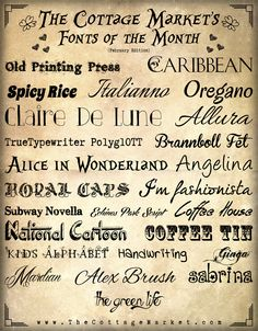 The Cottage Market: Free Summer Time Fun FONTS
