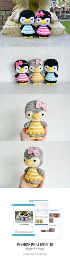 Penguins Pippa And Otto Amigurumi Pattern