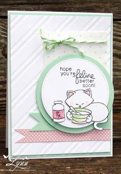 Creative Crafts by Lynn: Feline Better? | Newton's Sick Day Stamp set by Newton's Nook Designs