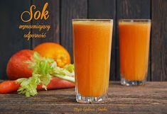 Galeria Smaku: Sok wzmacniający odporność Healthy Juice Drinks, Easy Healthy Smoothie Recipes, Healthy Detox, Healthy Juices, Smoothie Drinks, Kefir, Food And Drink, Cooking Recipes, Vegetarian