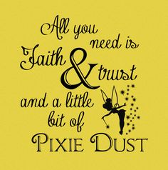New Beginnings Peter Pan Theme-ALL YOU NEED IS FAITH & TRUST AND A LITTLE BIT OF PIXIE DUST, Young Women