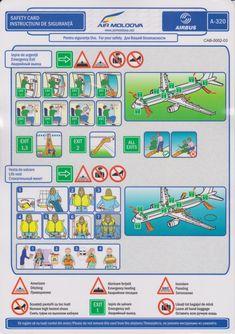 Safety Card  Air Moldova A320 (1) CAB-0002-03
