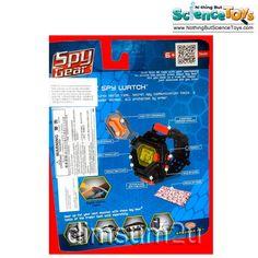 ToySmith Wild Planet Toys Ultimate Spy Watch Electronic Gadget Motion Alarm Decoder Screen Locking Armor Stopwatch Flashlight Spy Gear 70402