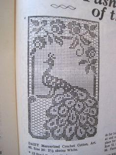 Crochet Pattern uncinetto Filet pavone sedia di KendallsCrochet                                                                                                                                                                                 Mais