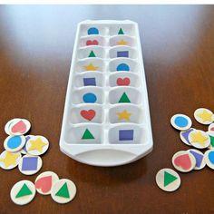 Matematik är kul! Här kan barnen sortera tack vare en gammal isbehållare ⭐️