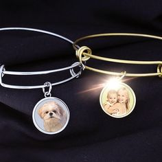 Photo Expandable Bracelets.  Available in Silver Tone and Gold Tone.