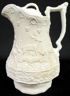 Cork & Edge Relief Moulded Stag & Holly Pitcher