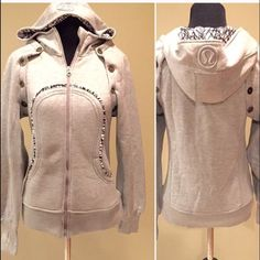 """LULULEMON SPECIAL EDITION SCUBA HOODIE II  W/tags. Detachable sleeves to make a 2-in-one vest and hoody! Cozy layer design to keep warm when it's cold or stay warm post work-out ✔️ Cotton fleece is knit with mechanical stretch- allows you to move with ease and cozy and very soft inside✔️""""Zipper garage"""" ✔️ Thumbholes on sleeves✔️ Large and deep hood and high """"scuba collar"""" to keep head and neck warm✔️ 2 pockets in front ✔️Pre-shrunk lululemon athletica Tops Sweatshirts & Hoodies"""