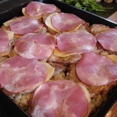 Bacon, Food And Drink, Meat, Vegetables, Gastronomia, Veggie Food, Vegetable Recipes, Veggies