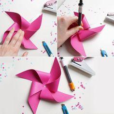 #DIY moulin à vent en papier