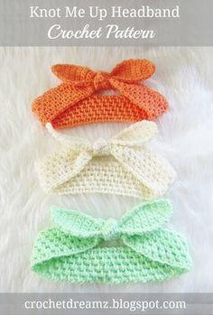 Lindos cintillos a crochet con orejas.