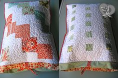 Quilted pillowcase with charm squares | Sewn Up by TeresaDownUnder  Free Tutorial