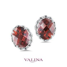 Show-stopping Garnet studs showcase the deep reds of this well-loved precious stone! Diamond Jewelry, Gemstone Jewelry, Fashion Earrings, Fashion Jewelry, Red Garnet, Gemstone Colors, Jewelery, Fine Jewelry, Stud Earrings